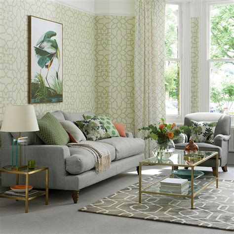 grey  green living room ideas  neutral  pure