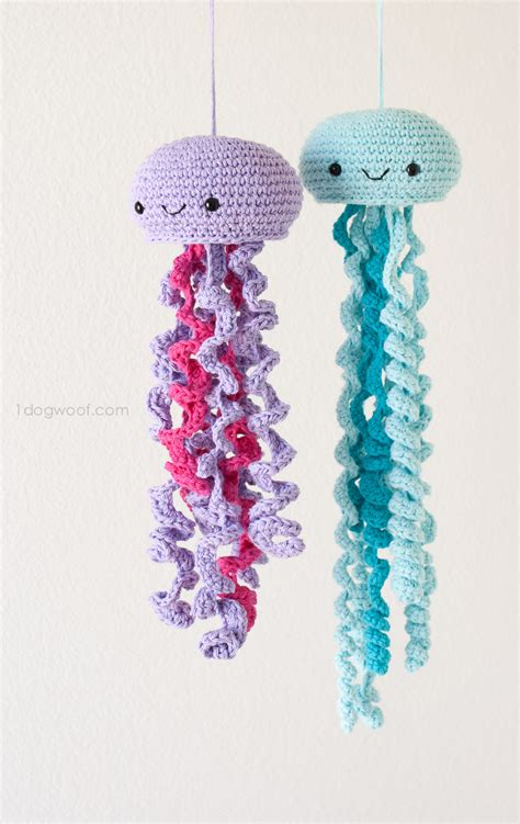 Crochet jellyfish one dog woof