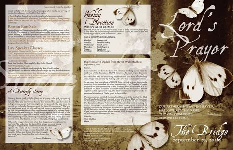 17 Best Images About Church Bulletins On Pinterest Contemporary Church Bulletin Templates