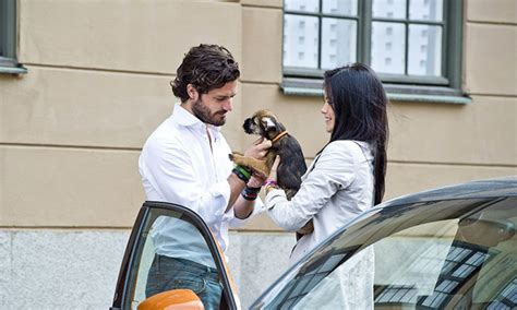 Light Grey Pants Prince Carl Philip Of Sweden Takes Adorable Photo With A Dog