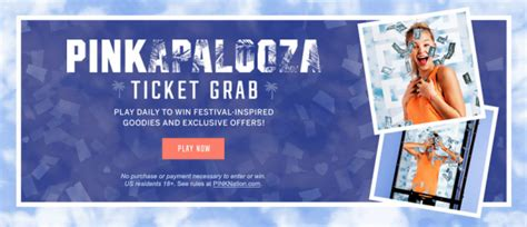 Victorias Secret Sweepstakes - victoria s secret pink pinkapalooza ticket grab instant win and sweepstakes
