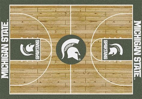 Michigan State Judiciary Search Buy Michigan State Spartans Home Court Logo Rugs