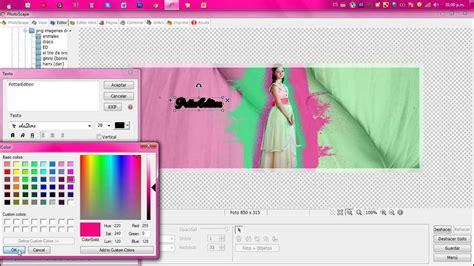 Como Hacer Una Portada Para Facebook En Photoscape Youtube | tutorial como hacer una linda portada para facebook en