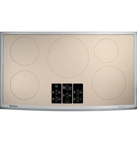 induction cooking like microwave zhu36rsmss ge monogram 174 36 quot induction cooktop monogram appliances