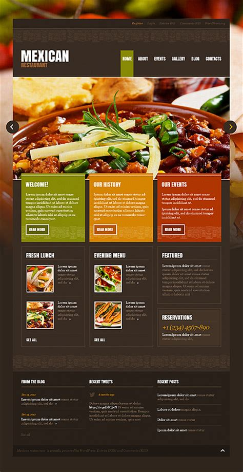 template 43196 mexican restaurant wordpress theme