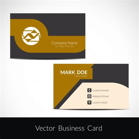 eps business card template beautiful business card template vector free