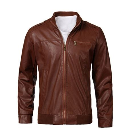 Jaket Casual Style Anime Chooper s fashion slim casual faux leather zipper motorcycle jacket us 34 27
