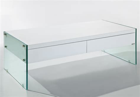 ultimo white contemporary coffee table