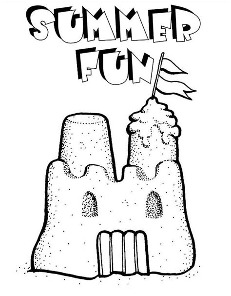 sandcastle coloring book coloring pages
