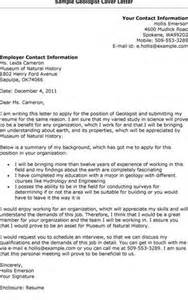 Cover Letter Geologist by Cover Letter For Fresh Graduate Geologist Cover Letter Templates