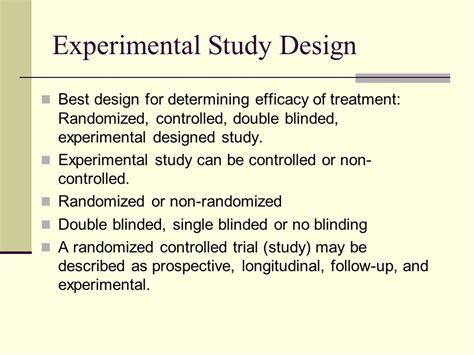 design experimental study research study designs ppt video online download