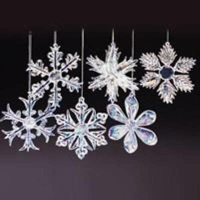 christmas snowflake ornament pack of 12 club clear