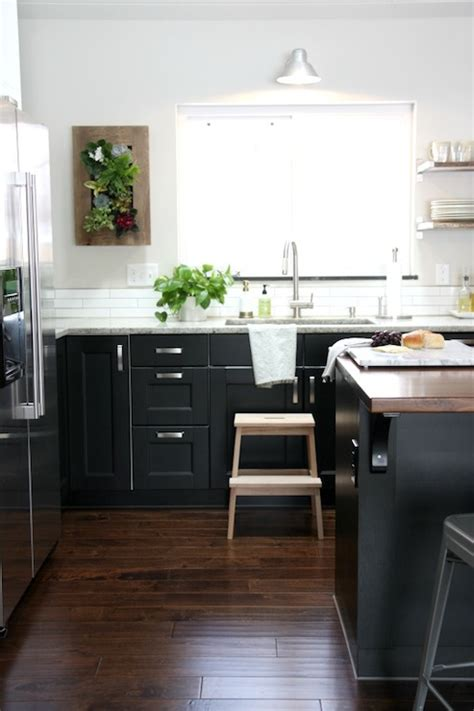 ikea black kitchen cabinets ikea ramsjo and ikea lidingo contemporary kitchen