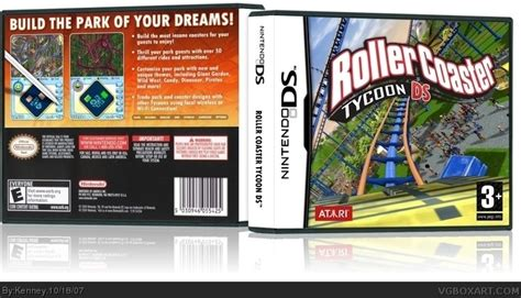 the jaguar tycoon books roller coaster ds nintendo ds box cover by kenney