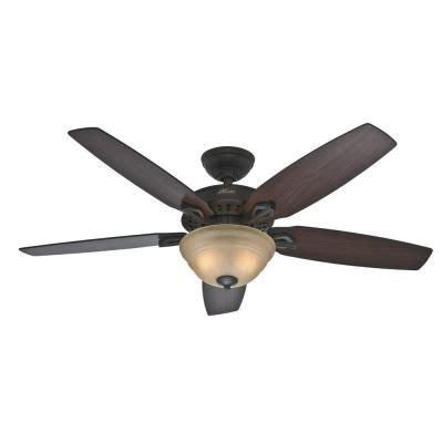 hunter heathrow 52 inch ceiling fan hunter heathrow 52 in indoor new bronze ceiling fan with