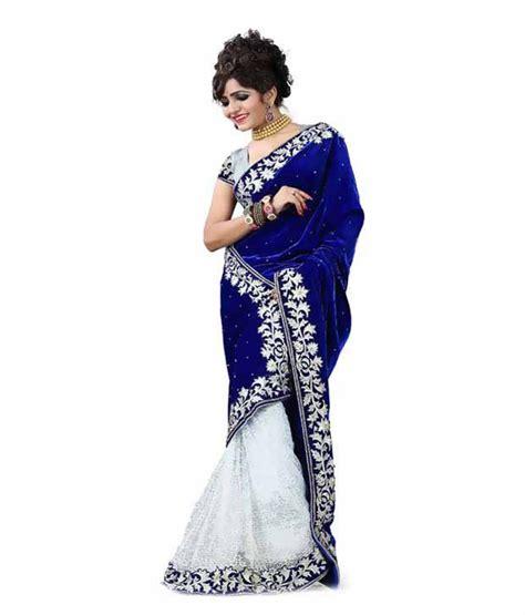 Orderan A N Sari vaidehi fashion blue velvet saree buy vaidehi fashion blue velvet saree at low price