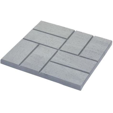 Patio Pavers Home Depot Emsco 16 X 16 In Plastic And Lightweight Brick Pattern Resin Patio Pavers 12 Pack 2157hd