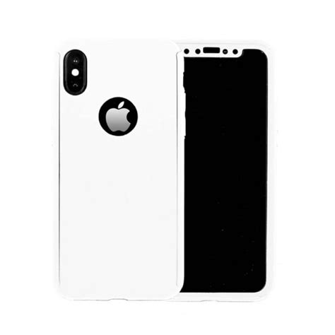 360 cover with tempered glass screen protector for iphone x xs white uk planet of accessories