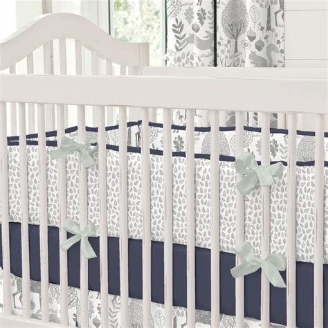 gray and navy crib bedding navy and gray woodland crib bedding carousel designs