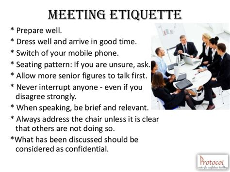 conference room etiquette business etiquette bosch