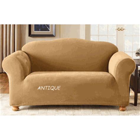 stretch sofa covers ready made surefit 1 piece stretch pique loveseat cover