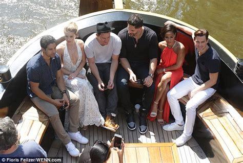 cast of boat trip amber heard wears plunging dress as magic mike xxl cast
