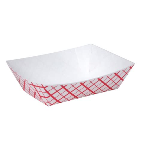 1 4 lb check paper food tray 1000