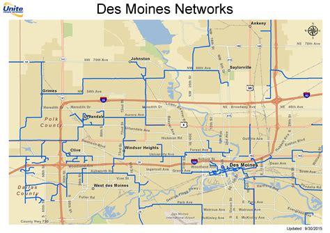 map of des moines metro fiber maps upn
