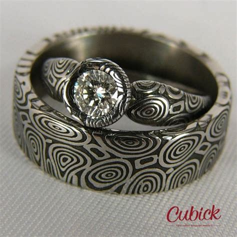 deluxir wedding rings with big wedding bands