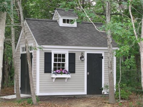 shed colors paint scheme grey white trim black door she sheds