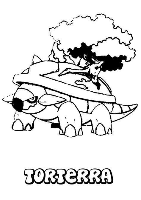pokemon coloring pages turtwig torterra coloring pages hellokids com