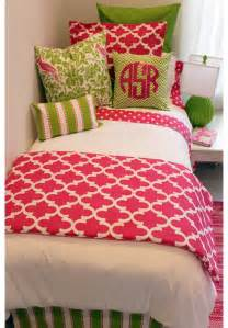 bedding for room preppy pink green designer bed in a bag