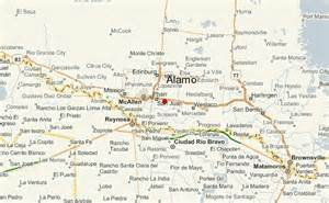 the alamo texas map alamo texas location guide