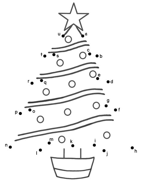 christmas tree connect the dots christmas pinterest