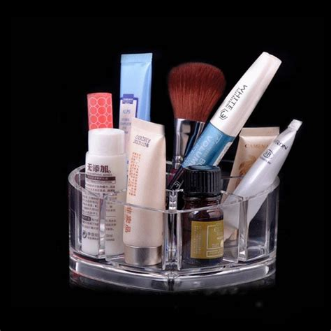 Custom Acrylic Make Up Box shaped clear cube custom design acrylic makeup organizer