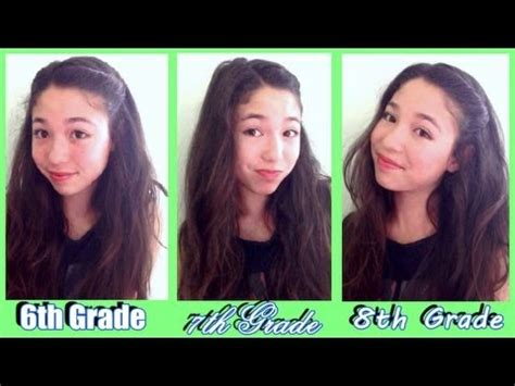 Easy Hairstyles For School In 7th Graders by Middle School Makeup Tutorial 3 Looks 6th 7th 8th