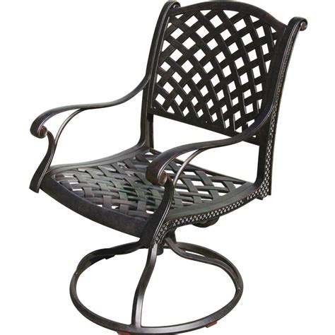 Patio Furniture With Swivel Chairs Darlee Nassau Cast Aluminum Patio Swivel Rocker Dining Chair Ultimate Patio