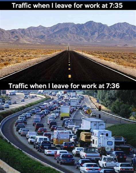 traffic when leaving for work jokes memes pictures