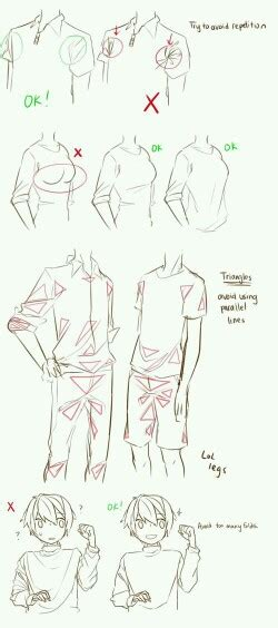 How To Draw Wrinkles In Clothes