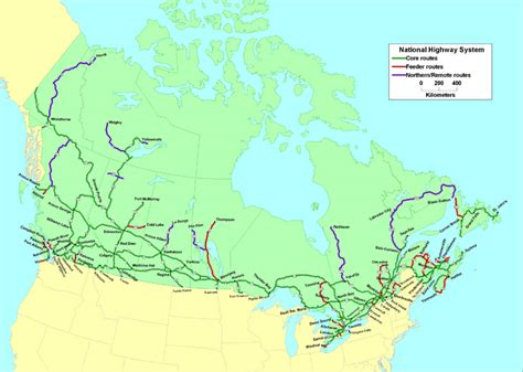 map of us and canada highways the national highway system nhs map transport canada