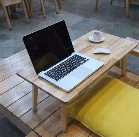 on the floor table floor low table wooden folding coffee study laptop desk