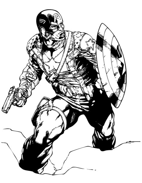 the punisher coloring book for adults books captain america classic marvel comic coloring page h m