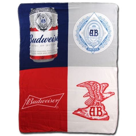 bud light fleece blanket budweiser traditional fleece blanket boozingear com