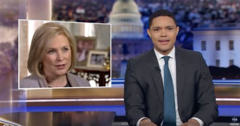 kirsten gillibrand trevor noah trevor noah mocks gillibrand over backpedaling from past