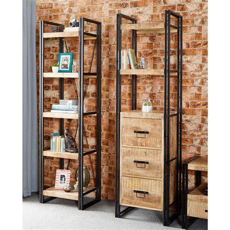 narrow bookcase with drawers upcycled industrial mintis narrow bookcase with 3 drawers