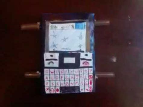 movil con material d desecho celulares de carton x9 04 youtube