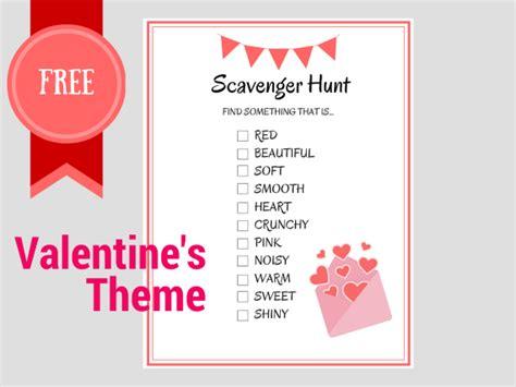 valentines treasure hunt free printable scavenger hunt birthday ideas