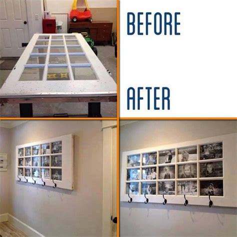 diy door frame diy coat rack with photo frame home design garden