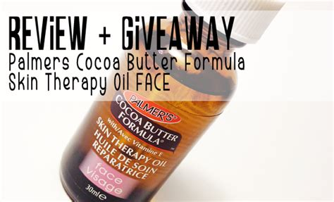 Nourish Skin Isi 30 1 review giveaway palmers cocoa butter formula skin