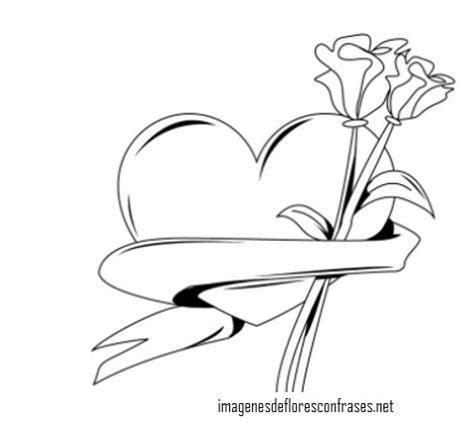 imágenes de flores lindas para dibujar im 225 genes de corazones con flores hermosas de amor